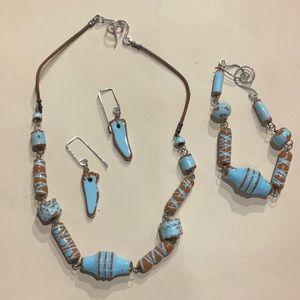 Greek inspired necklace set